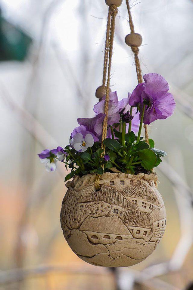 Toepferkunst-Manuela-Wienicke-Grossraeschen-Blumentopf-Petra