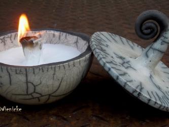 Raku-Kerzenrestefresser