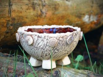 Keramikschale bernstein